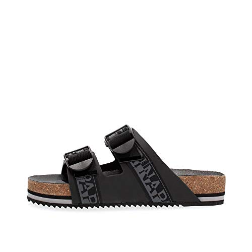 Napapijri NA4ETH Leather Sandal Sandalen UND Slipper Herren Black 45