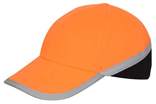 Silent Sicherheitskappe, Hi Vis Safety Bump Cap, Baseballstil, Hi Viz Kopfschutz, Reflektierend, EN 812 Zertifiziert