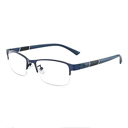 Gafas De Sol Fotocromáticas Inteligentes para Hombres Y Mujeres Cómodas Gafas De Lectura Ligeras con Bisagra De Resorte Anteojos De Lectura Interiores Exteriores,Azul,+2.50