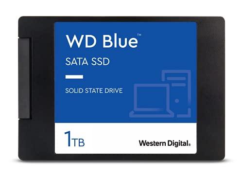 WD Blue SATA SSD 1 TB, 2,5 Zoll (interne SSD, hohe Zuverlässigkeit, Lesevorgänge bis zu 560 MB/s, Schreibvorgänge bis zu 530 MB/s, stoßsicher und WD F.I.T. Lab-zertifiziert)