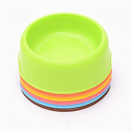 RVAXQ Cuenco de Mascotas Ligero Redondo de plástico, alimentador, tazón de Gato y tazón de Perro, Base Anti-Gota Antideslizante (Color : 4)