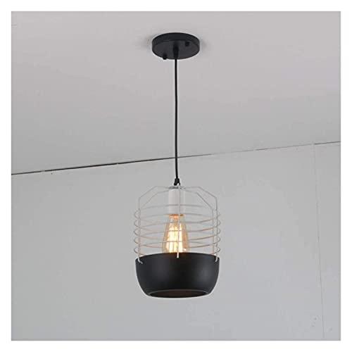 LATOO Lámparas de araña Industrial LED Estilo Retro Ara?a de Hierro Forjado Restaurante Creative Birdcage Bar Racks Den Chandelier 1 * (20 * 26cm)
