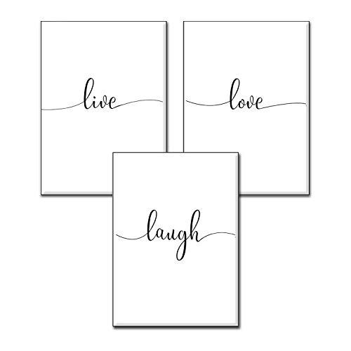 4Good - Set di poster con diverse scritte, stampe con frasi motivazionali e divertenti; decorazione per ufficio, cucina, soggiorno o camera da letto