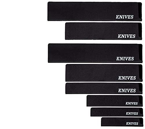Knives Messerschutz Set 8-Stück Messerschutzhülle und Klingenschutz für die Messertasche, Schublade und Bestecklade, perfekt zum Schützen von hochwertigen Kochmessern und Messern Aller Art.
