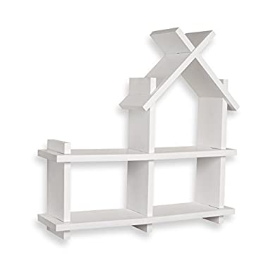 Danya B House Design White Wall Mount Shelf