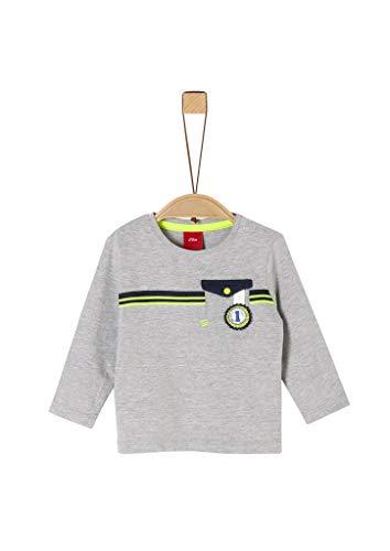 s.Oliver Junior 405.10.002.12.130.2020167 T-Shirt, Baby - Jungen, Grau 74 EU