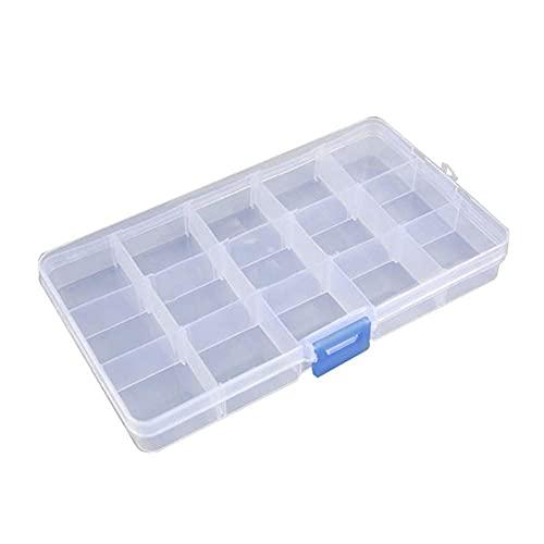 XLAHD Caja de joyería Caja de joyería Plástico Transparente Píldora de celosía...