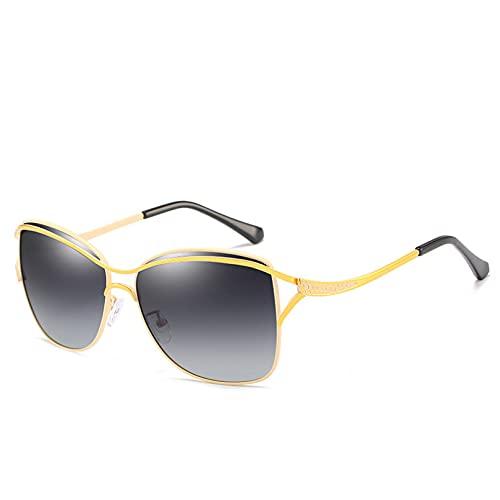 BAJIE Gafas de Sol Gafas de Sol polarizadas para Mujer Gafas de Sol de Gran tamaño de aleación Uv400 Gafas de conducción Hombres/Mujeres