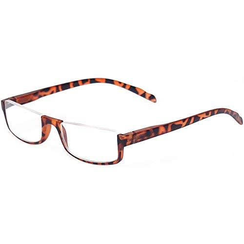 Retro Half Frame Lesebrille Spring Hinge Quality Brille Reading Für Männer Und Frauen,Yellow-+2.50