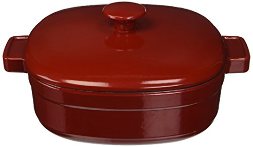 KitchenAid KCLI40CRER Streamline Cast Iron 4-Quart Casserole Cookware - Empire Red