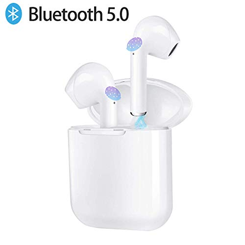 Auriculares Bluetooth,i9 Auriculares inalámbricos Bluetooth 5.0 Sonido Estéreo Auricular Mini Twins In-Ear Auriculares Carga Rapida Resistente al Agua con Caja de Carga para iOS y Android