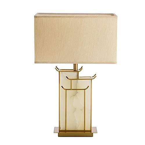 JenLn Bijzettafel lamp Chinese marmer tafellamp moderne minimalistische klassieke woonkamer slaapkamerlamp