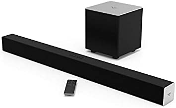 VIZIO 2.1 Sound Bar SB3821-C6 with Wireless Subwoofer Bluetooth 100dB SPL