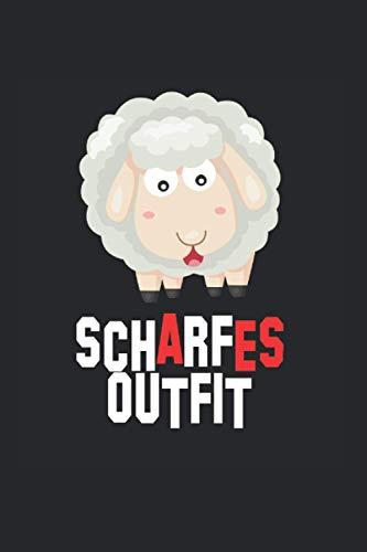 Scharfes Outfit Comic Schaf Schäfchen: Notizbuch 7x9