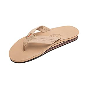 Rainbow Sandals Men Premium Leather Double Layer, Sierra Brown,