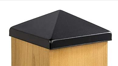 6x6 Apex Pyramid Post Cap - Textured Black (5 1/2