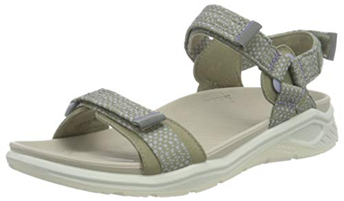 ECCO Damen X-trinsic Flat Sandal Knöchelriemen, Vetiver, 39 EU