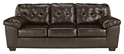 Signature Design by Ashley - Alliston Contemporary Faux Leather Sleep Sofa