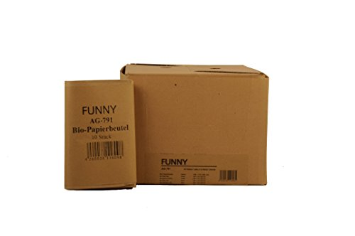 Funny Semy Bio-Papierbeutel, circa 10 l, 1er Pack (1 x 300 Stück), braun