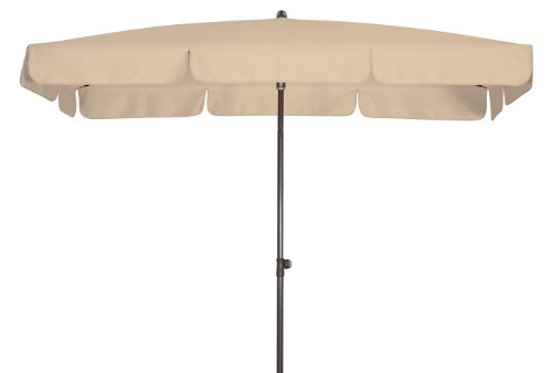 Doppler Absolut wasserdichter Gartenschirm Waterproof 185x120 UV-Schutz 80, Farbe Natur