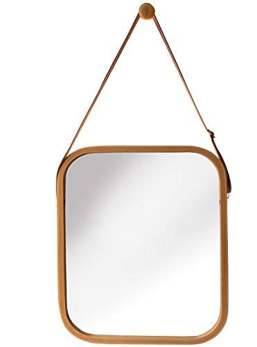 osoltus Edge Badspiegel Spiegel Wandspiegel Bambus mit Aufhängung