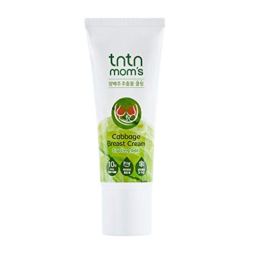 TNTN MOM'S - Cabbage Breast Cream for Engorgement- Breastfeeding Trouble Relief & Good for Breast Pain and Mastitis | Breast Feeding Essentials | Lanolin-Free | Korean Skin Care | 3.38 Fl oz