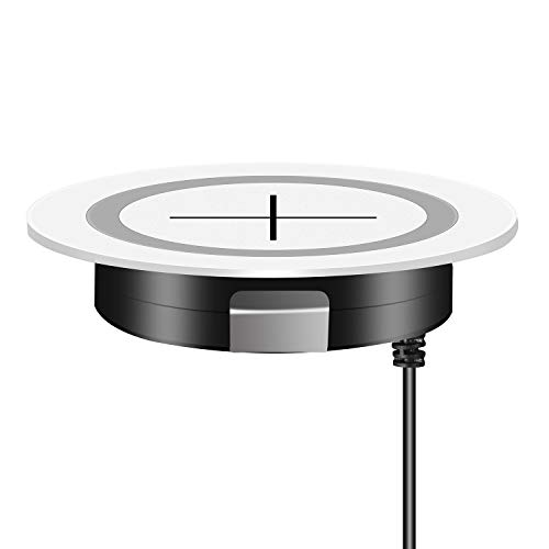 JE Make IT Simple QI Wireless Charger Fast Kabelloses Ladegerät induktions ladegerät von Furniture Grommet, Wireless Charging kompatibel mit iPhone 12/12 Mini/12 Pro Max/SE2020/iPhone11, Galaxy Serie