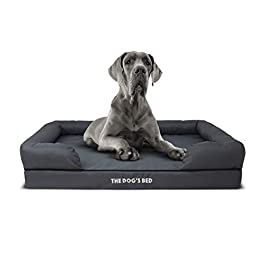 The Dog's Bed,Premium Orthopedic Memory Foam Waterproof Dog Beds, Many Colours/Sizes, Eases Pet Arthritis & Hip Dysplasia Pain, Therapeutic & Supportive Dog Bed, Washable Quality Oxford Fabric Cover