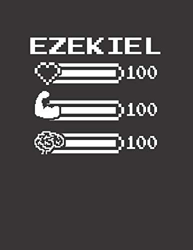 EZEKIEL: Pixel Retro Game 8 Bit Design Blank Composition Notebook College Ruled, Name Personalized for Boys & Men. Gaming Desk Stuff for Gamer Boys. ... Gift. Birthday & Christmas Gift for Men.