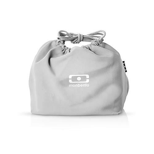 monbento - MB Pochette Lunch Bag - Sac bento Polyester - Idéal pour Les Lunch Box MB Original MB Square & MB Tresor (M, Gris Coton)