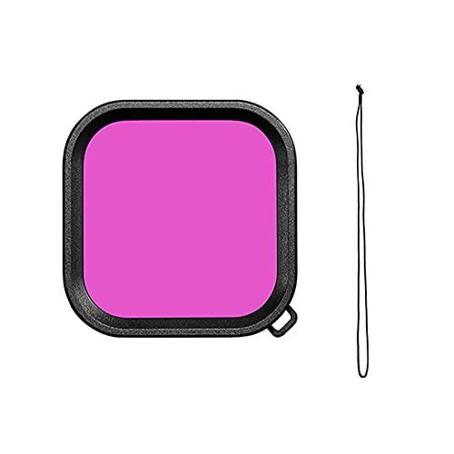 zmigrapddn Funda de Lente Impermeable para GoPro Hero 9 Filtro de Buceo bajo el Agua Rosa Rosa Púrpura Filtros de Buceo Accesorios de cámara Accesorios ( Colour : Purple )