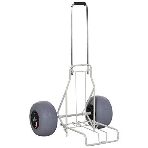 Outsunny Chariot de Plage Pliable - Chariot de...