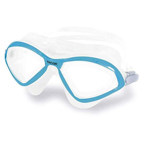 Seac Diablo Schwimmbrille für Männer und Frauen zur Verwendung im Schwimmbad und im Freiwasser, trasparent/blau LT, Standard
