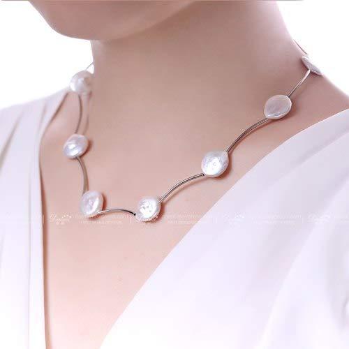 Daimi ジュエリーネックレス 13-14 ミリメートル巨大なコイン真珠カラフルなネックレス 5 色女性真珠のネックレス