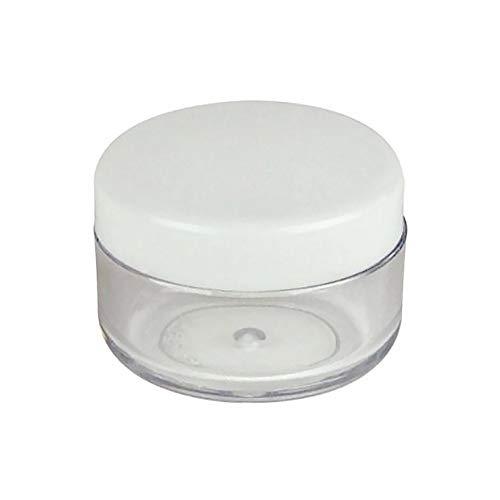 RIsxffp 25/50/100 Lot de 3 g Distributeur de Poudre de Maquillage Rond carré 3 Blanc