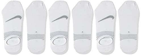 NIKE 3Ppk S Lightweight Footi Calcetines, Hombre, Blanco/Gris Lobo