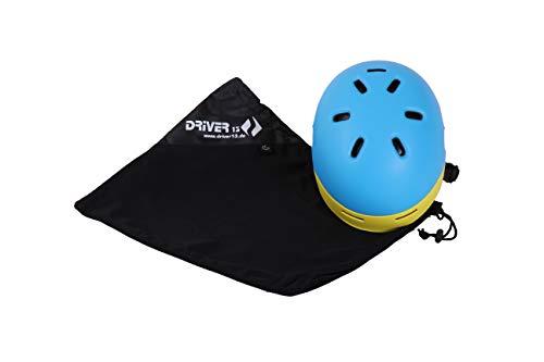 Driver13 ® Helmbeutel Helmsack Helmschutz schwarz/weich gepolstert, universal Tasche für Skihelme Fahrradhelme Reithelme 50x45 cm