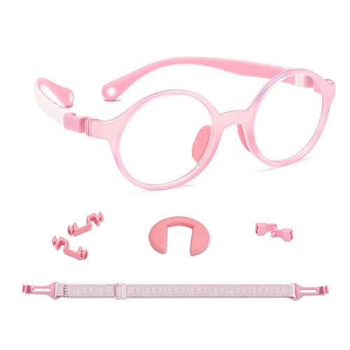 KidMoments Kinder Blaue Licht Blockierende Brille für Jungen und Mädchen im Alter von 5 bis 14 Jahren, Silikonrahmen mit ergonomischem Design, UV400-Schutzglas gegen Ermüdung