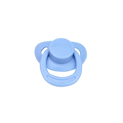 Trada Schnuller Clips Silikon Teether Clip Silikon Teether 1PC Dummy für Reborn Babypuppen mit internem magnetischem Zubehör Baby Silikon Zubehör Baby Spielzeug (Blau)