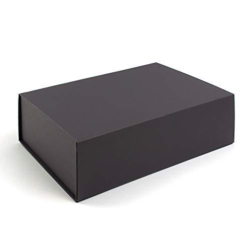 Caja de regalo con cierre magnético, 330 x 230 x 100 mm, 3 unidades, color negro