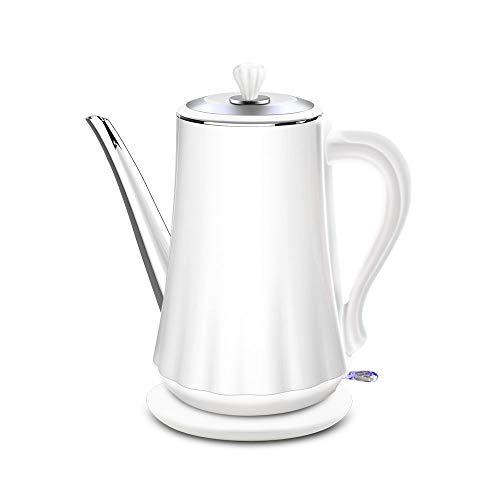 LKNJLL Cuello de Cisne eléctrico de Acero Inoxidable de Goteo Hervidor for Verter sobre el café y el té, con rápida Característica de ebullición y termómetro indicador...
