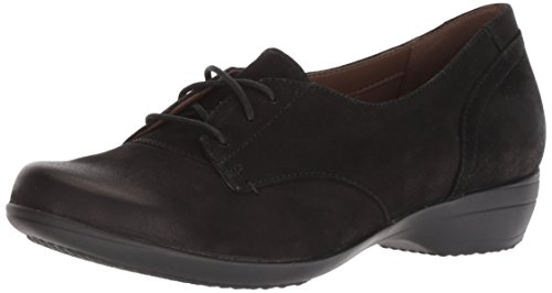 Dansko Women's Fallon Oxford Flat, Black Burnished Nubuck, 42 M EU (11.5-12 US)