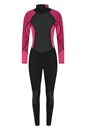 Mountain Warehouse Langer Damen-Neoprenanzug - Körper: 2.5mm, Konturfit, verstellb. Ausschnitt, hält Körperwärme, einteilig Dunkelrosa 30-32
