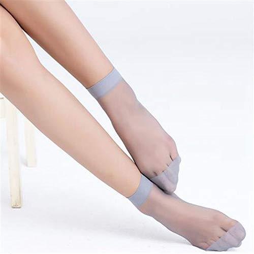 MoonyLI Damen Söckchen Nylon Elastische Strümpfe Socken Transparente Kurze Socken High Ankle Sheer Socken 10 Paar