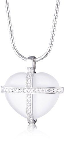 Esprit Damen-Kette CROSS MY HEART 43 cm S.ESNL90518B430