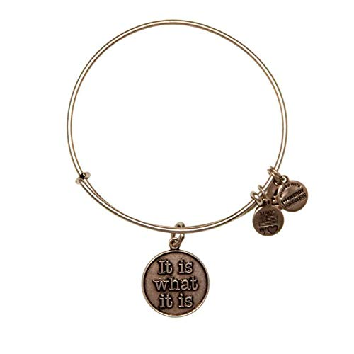Alex & ani it is what it is argento braccialetto A12EB34RS