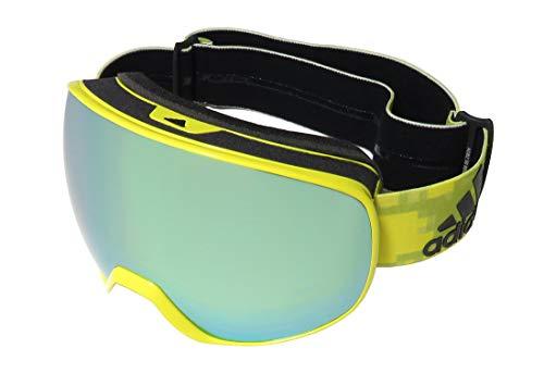 adidas Schneebrillen PROGRESSOR S AD82 Shiny Bright Yellow/Gold Mirror Unisex
