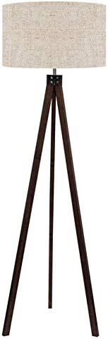 LEPOWER Wood Tripod Floor Lamp Mid Century Standing Reading Light for Living Room Bedroom Study product image