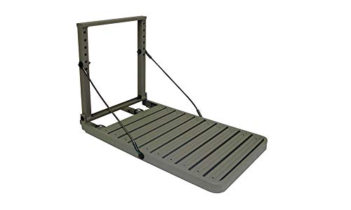 GREAT DAY Load-A-Pup HD 14x20in Robust Safety Pet Loading Platform - for The Hunting Dog - Earth-Tone Gray Powder-Coated Finish - Intended for Use in Fresh Water, LP500HD