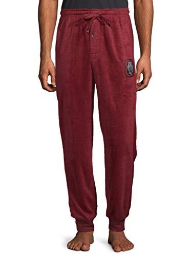 Ecko Unltd. Men's Minky Fleece Jogger | Moisture Wicking Pajama Pant 100% Polyester Red